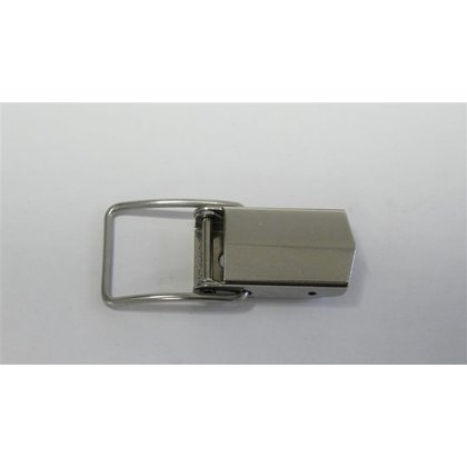 Latch with spring clip, stainless steel,  mounting holes 3,1mm